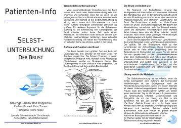 Selbstuntersuchung der Brust - MediClin Kraichgau-Klinik