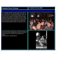 Drum Day 2002 - Freaktal Drum School & Shop