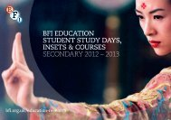 bfi education student study days, insets & courses secondary 2012