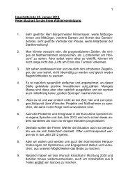 Haushaltsrede der FWV-Fraktion - Stadt Kraichtal
