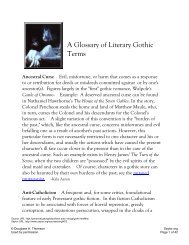 A Glossary of Literary Gothic Terms - Saylor.org