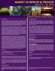 THE PROGRAM Berlin and Prague: Jewish History ... - Marist College