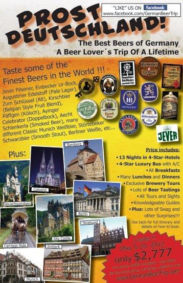 download our 2012 flyer - German Beer Trip