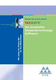 Die komplette Steuerberechnungs- Software - FIVE Informatik AG