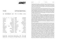 THE EPHEMERAL - Arndt