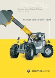 Kramer telehandler 3606