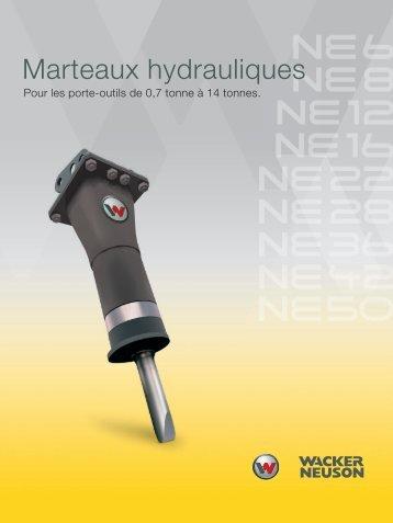 Marteaux hydrauliques