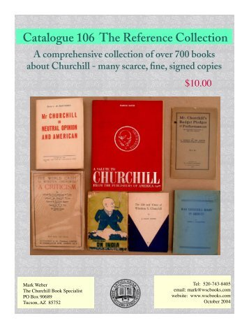 Catalogue 106 - Churchill Book Specialist