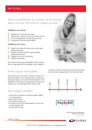 Produktblad PayByBill - Gothia Financial Group