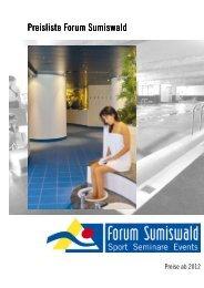 2012 preisliste allgemein - Forum Sumiswald