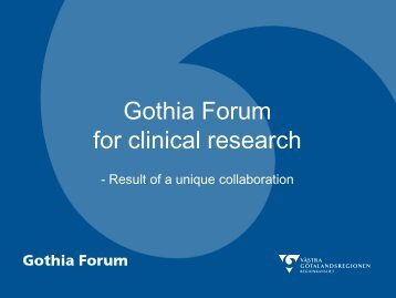 Gothia Forum for clinical research - Clusnet