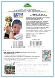 Gothia Cup 2013 - World Youth Tournaments