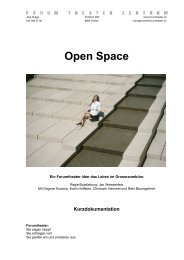 Open Space - Forum Theater Zentrum Zürich