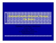 Rational Emotive Behavior Therapy: The Basics - SMART Recovery