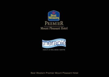 Therapie Spa Brochure - Best Western Premier Mount Pleasant ...