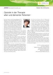 Opioide in der Therapie alter und dementer Patienten - Universimed