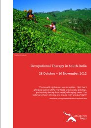 Occupational Therapy in South India 28 October - Jon Baines Tours ...