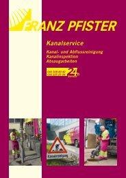 Kanalservice - Franz Pfister AG Kanalreinigung, Tunnel