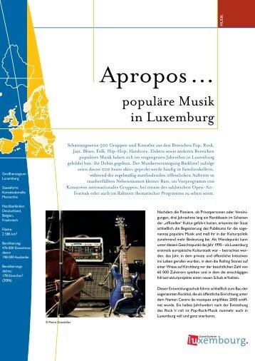 populäre Musik in Luxemburg - Portail du Grand-Duché de ...
