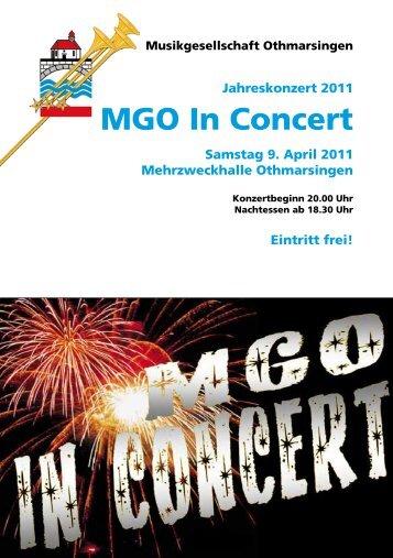 MGO In Concert - Musikgesellschaft Othmarsingen