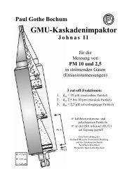 GMU-Kaskadenimpaktor - Paul Gothe GmbH