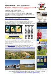 NEWSLETTER – JULI / AUGUST 2012 - Golfclub Fürth