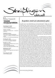 Das Amtsblatt zum Herunterladen - Steißlingen
