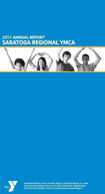 2011 Annual Report. - Saratoga Regional YMCA