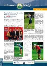 Wannsee Brief August 2011 - Der Golf- und Land-Club Berlin ...