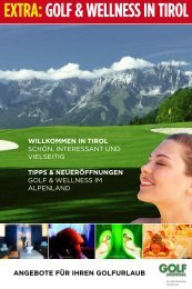 EXTRA: GOLF & WELLNESS IN TIROL - IDC Marketing