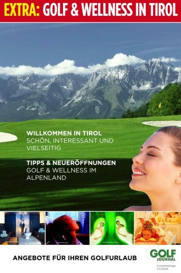 EXTRA: GOLF & WELLNESS IN TIROL - IDC Marketing