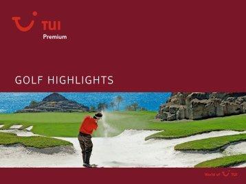 TUI - Premium: Golf Highlights - tui.com - Onlinekatalog