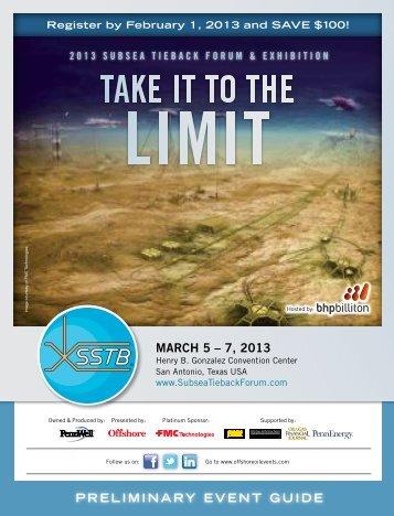 MARCH 5 – 7, 2013 - Subsea Tieback Forum