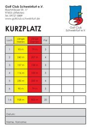 6-Loch Kurzplatz (115 KB) - Golf Club Schweinfurt