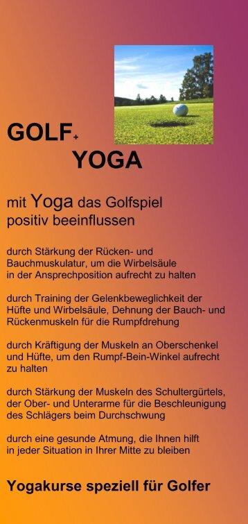 GOLF+ YOGA - Golfclub Schwanhof