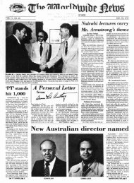 WWN 1976 (Prelim No 25) - Herbert W. Armstrong