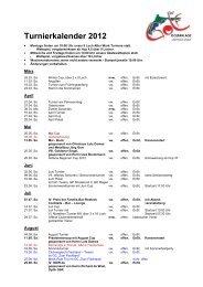 Turnierkalender 2012 - Golfclub