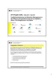 Kti-Projekt Care - Alters- und Pflegeheim Bleichematt, Biberist