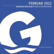 Veranstaltungsprogramm Februar 2013 - im Goldbekhaus