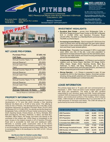 net lease pro-forma - Mid-America Real Estate Group
