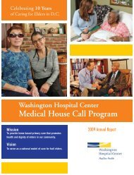 Medical House Call Program - Washington Hospital Center