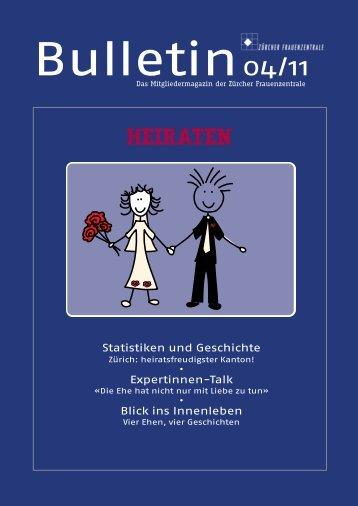 Bulletin-Ausgabe als PDF - Frauenzentrale
