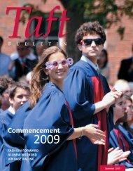 Commencement - The Taft School