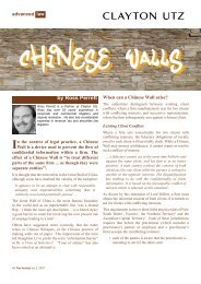 Chinese Wall - Queensland Law Society
