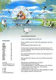 Buchung@bootshaus-ferien.de - Bootshaus Goldberg