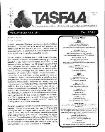 Crossfeed Fall 2004 - TASFAA-TN
