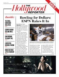 Bowling for Dollars: ESPN Rakes It In - The Hollywood Reporter