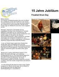 15 Jahre Jubiläum Freaktal Drum Day - Freaktal Drum School & Shop