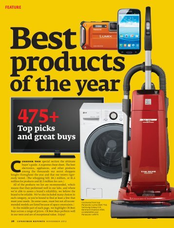 Feature Best Products - Consumer Reports Online