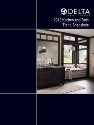 2012 Kitchen and Bath Trend Snapshots - Delta Faucet